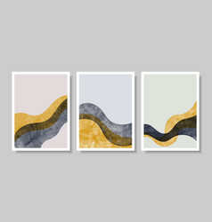 Set abstract contemporary aesthetic background vector