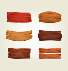 set of colorful wooden boards vector image