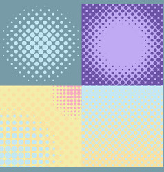 set of four abstract backgrounds vector image