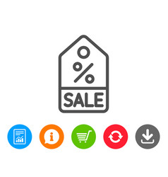 shopping tag line icon special offer sign vector image