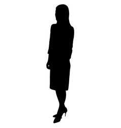 silhouette of a sexy woman with long legs in a vector image