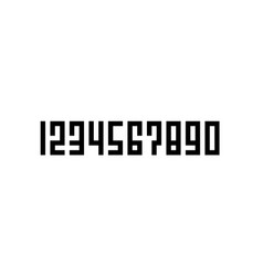 square style lettering number set of pixel number vector image