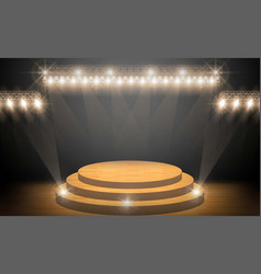 stage on background and spotlight illumination vector image
