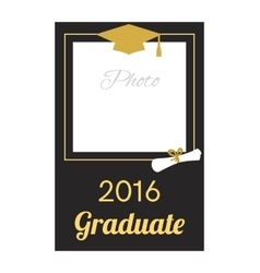Student 2016 graduation photo frame vector image