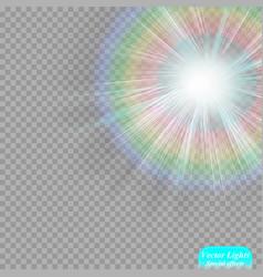 the sun s light effect sun rays vector image