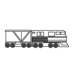 Train vehicle isolated icon vector