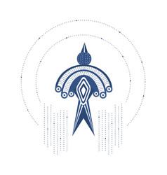 tribal pattern bird vector image