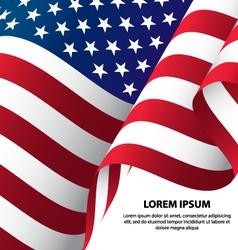 Usa waving flag background vector