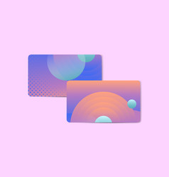 Vibrant abstract design business card vector