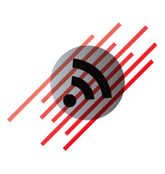 Wi-fi network icon blue logo isolated blue vector