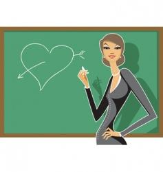 young sexy teacher vector image