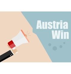 Austria win Flat design business vector image vector image