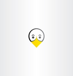 funny bird duck face icon vector image