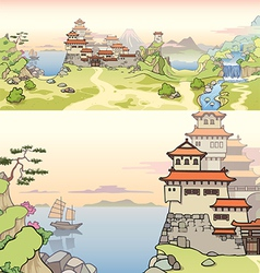Old Japanese Castle vector image vector image