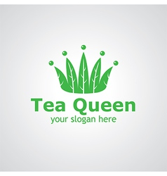 tea queen vector image vector image