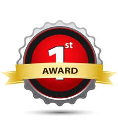 1st award sign vector image vector image