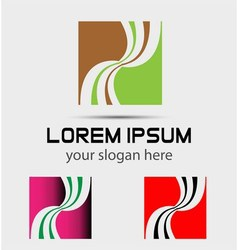 Corporate abstract logo design template vector image vector image