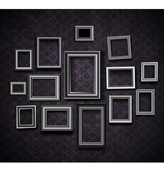 Photo picture frames vintage vector image
