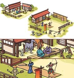 Samurai Training Camp vector image vector image