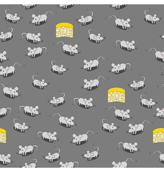 Seamless mice pattern vector image