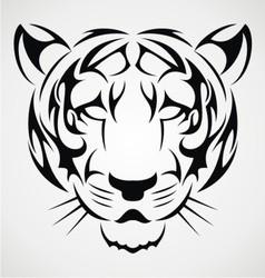 Tiger Tattoo Design vector image