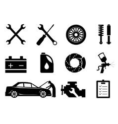 Car maintenance and repair icon set vector image