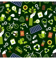 Eco friendly and saving energy seamless pattern vector image vector image