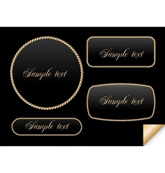 Golden sign on chain frame vector image vector image