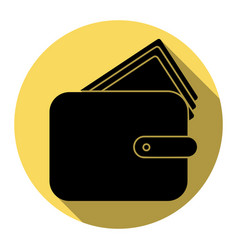 wallet sign flat black icon vector image
