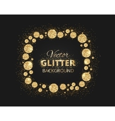 Black and gold background with shiny glitter dots vector image vector image