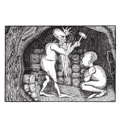 dwarves vintage vector image