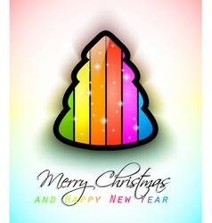 modern raonbow christmas vector image vector image