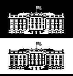 white house america black and white icon vector image
