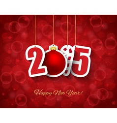 2015 New year background vector image