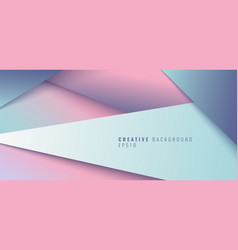 Abstract creative modern geometric triangle paper vector