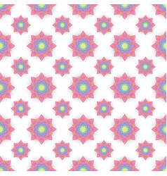 abstract seamless pattern with colored flowers vector image
