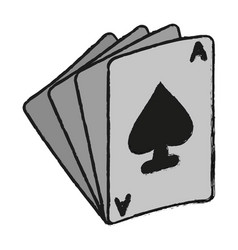 Ace of spades icon image vector