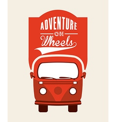 adventure on wheels vector image