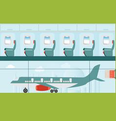 Aeroplane at airport vector
