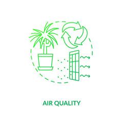 Air quality green concept icon vector