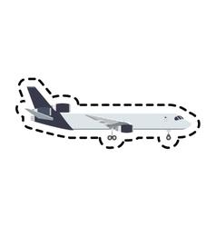 airplane vehicle icon vector image