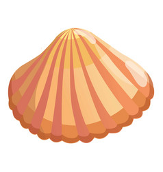 Aquatic shell icon cartoon style vector