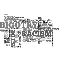 Bigotry word cloud concept vector