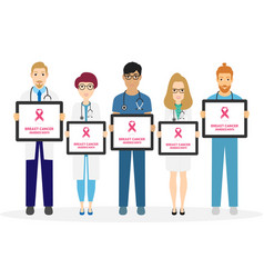 breast cancer awareness of doctors vector image