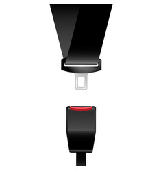 Car safety seat belt icon - catch latch vector