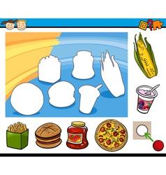 cartoon educational preschool task vector image