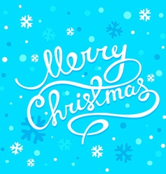 christmas greetings with hand written tex vector image