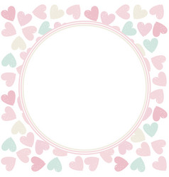 Circle frame with stylish hearts vector