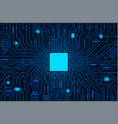 circuit board background cpu microchip abstract vector image