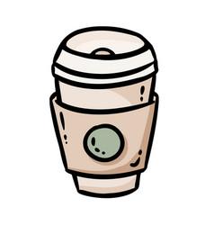 Coffee cup to go icon social media highlight logo vector